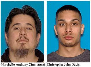 Police said they identified Marchello Anthony Cimmarusti, 40, and Christopher John Davis, 27, as persons of interest in the Rose Downwind case.