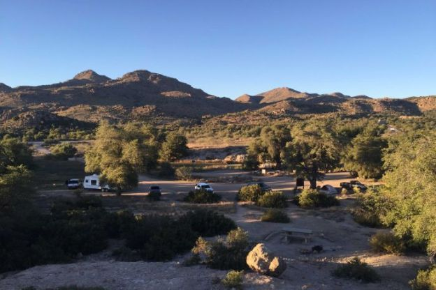 PHOTO: The Oak Flat campground could sink up to 300 meters as part of the mining operations. (ABC News: Stephanie March)
