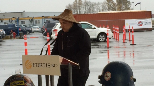 The Tsawwassen First Nation Chief Bryce Williams (Nov 16/15) (Shannon Brennan, NEWS 1130 photo)