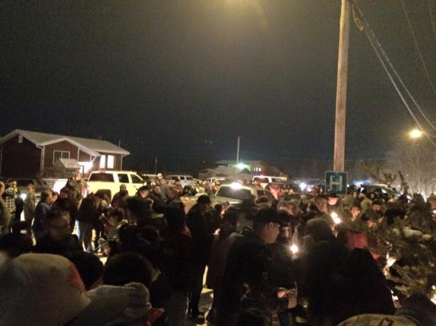 Candle vigil was beautiful and to the la Loche community family that join us to pray and show support for our loves one. #Prayersforlaloche (Photo: Janvier Nathan/Facebook)