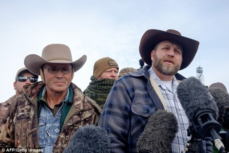 Arizona rancher LaVoy Finicum, left, and Ammon Bundy, Militia Leader in Oregon.