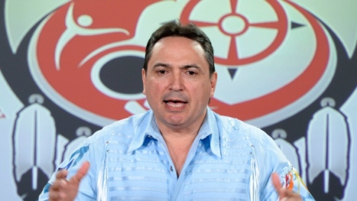 Assembly of First Nations national Chief Perry Bellegarde holds a news conference in Ottawa on Monday, June 1, 2015. (Photo: CP/Sean Kilpatrick) (The Canadian Press)