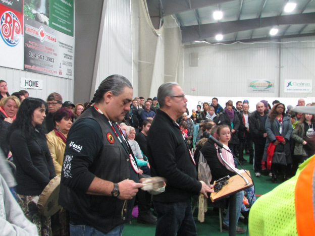 FILE: James Favel and indigenous elder and educator, Larry Morrissette, from the Bear Clan. (Photo Red Power Media)