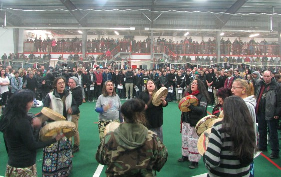 Hundreds Attend Indigenous Smudging Ceremony For Cooper Nemeth. Red Power Media