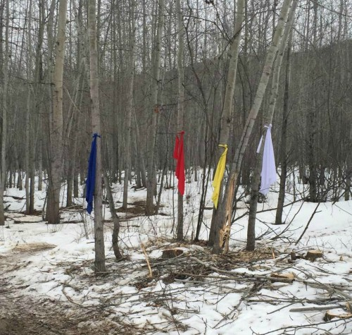 Prayer flags. (Photo by Christy Jordan-Fenton)