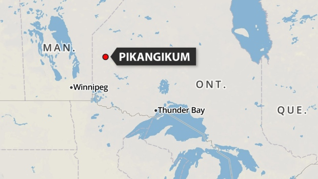 Pikangikum is a remote community located 500 kilometres northwest of Thunder Bay and is only accessible by air. (Canadian Press)