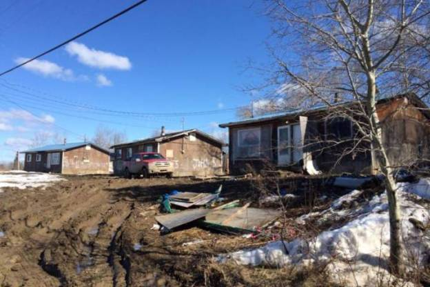 A picture taken in Pikangikum on March 30, 2016 shows several homes in the community of approximately 3,000 residents. A house fire on March 29 claimed the lives of nine people in the community. Supplied photo