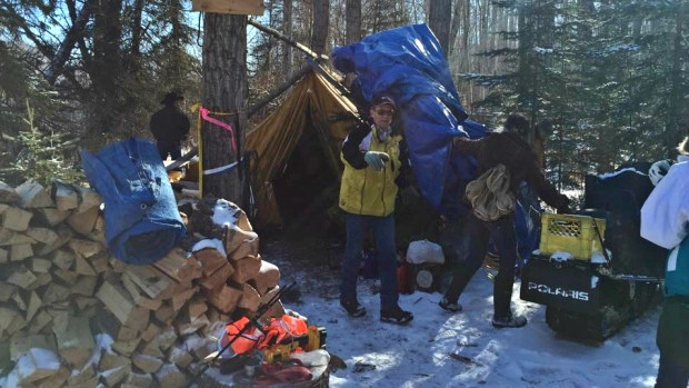 Opponents of Site C dismantle the remote protest camp that stalled BC Hydro dam construction work for two months. (Christy Jordan-Fenton)