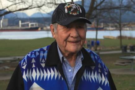 William Jones Ignace, also known as Wolverine, was a key figure in the 1995 Gustafsen Lake standoff. The 82-year-old Secwepemc man died March 22, 2016, (Facebook/Ts'Peten Defence Committee)
