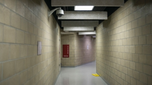 The hallway inside the North Slave Correctional Centre in Yellowknife. One man who's spent a lot of time there says he's had little opportunity for rehabilitation. (Pat Kane)