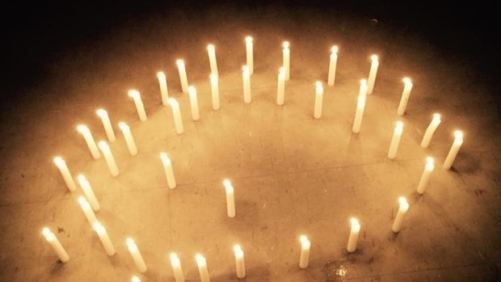 A vigil was held in Pimicikamak on Sunday to remember the six people who died by suicide. (Facebook)
