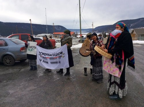 Photo: Williams Lake Indian Band Occupation via Facebook