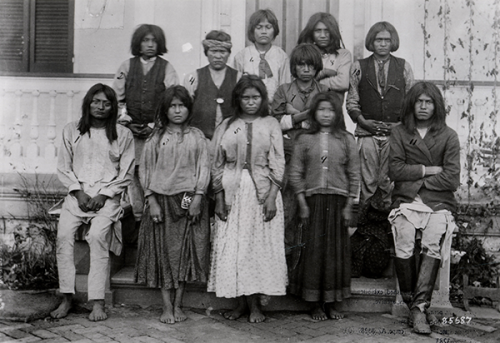 Chiricahua Apache children upon arrival at Carlisle Indian Industrial School