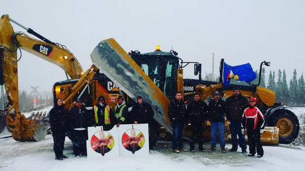 A group of protestors had been blocking three Manitoba Hydro sites, claiming that hydro workers destroyed a sacred ceremonial site. (Source: Sheila North Wilson)