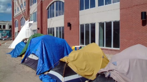 The Colonialism No More group in Regina is being asked to move their tents.