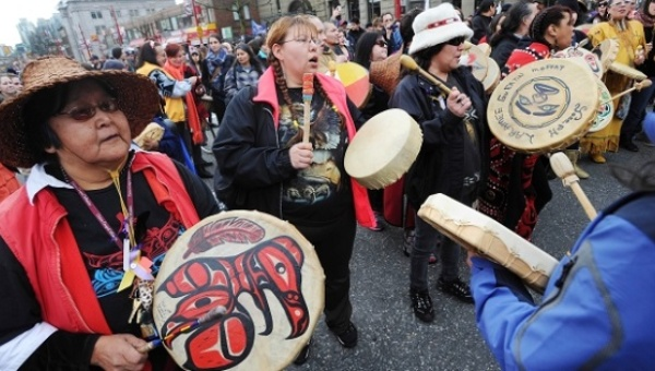 Indigenous Women's memorial march in Vancouver | Photo: Warrior publications