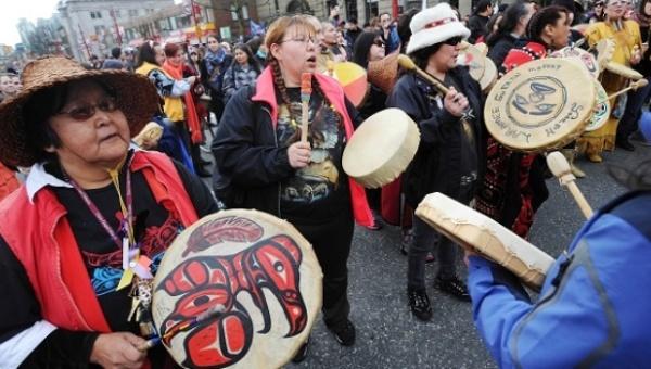 Indigenous Women's memorial march in Vancouver | Photo: Warrior publications