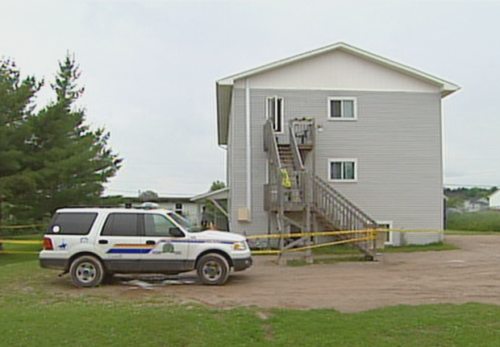 This is the Salisbury apartment where Polchies was found dead in July 2010. RCMP first deemed the death suspicious, until later in the week, the autopsy report, coroner's report and evidence gathered led the RCMP to rule out foul play. (CBC)
