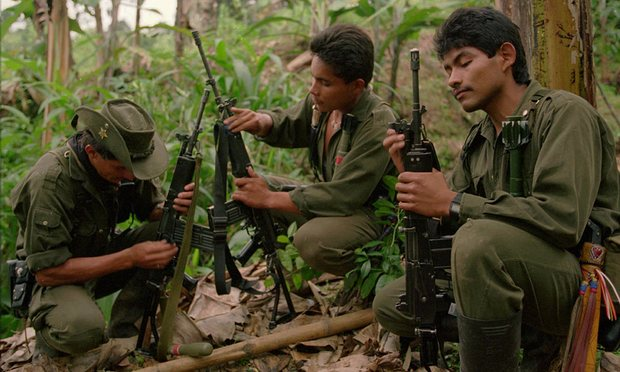 Farc rebels worry what will happen if they demobilize – and have sought US assurances they will not be prosecuted. Photograph: Ricardo Mazalan/AP