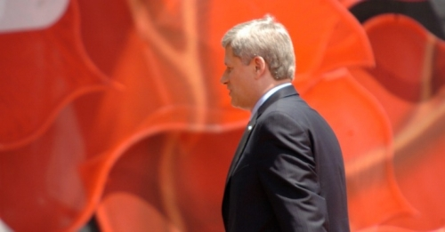 Former Prime Minister Stephen Harper, who just announced his resignation. (Photo: Heather/flickr/cc)