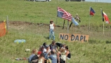 Oglala Sioux Tribe Members Join Dakota Access Pipeline Protest