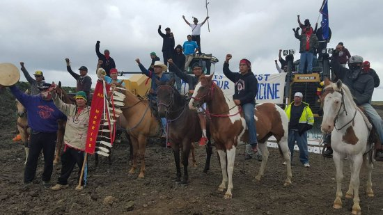 The Red Warrior Camp, located closer to construction than the Sacred Stone Camp, has been leading the actions against construction. | Photo: Facebook / Red Warrior Camp