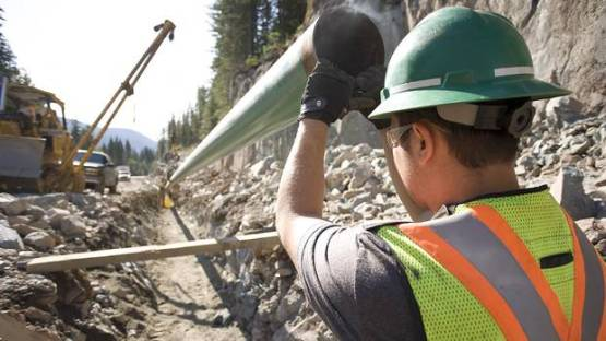 Pipeline construction in British Columbia. (Gary Campbell For The Globe and Mail)