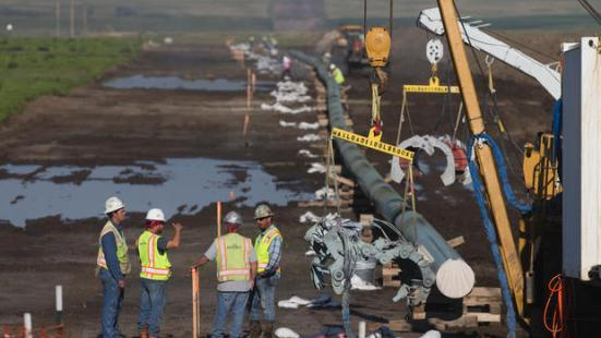 Crews work on installing the Dakota Access Pipeline near Williston, N.D., on Friday, July 29, 2016. photo by Eric Hylden/Forum News Service