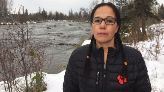 Lac La Ronge Indian Band Chief Tammy Cook-Searson says the entire community is on edge. (Devin Heroux/CBC News)