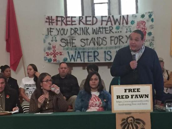 The family of Red Fawn Fallis, the woman arrested during the Dakota Access Pipeline protests demand her release and say she is not guilty of all charges: Mark Boyle Denver7/Facebook