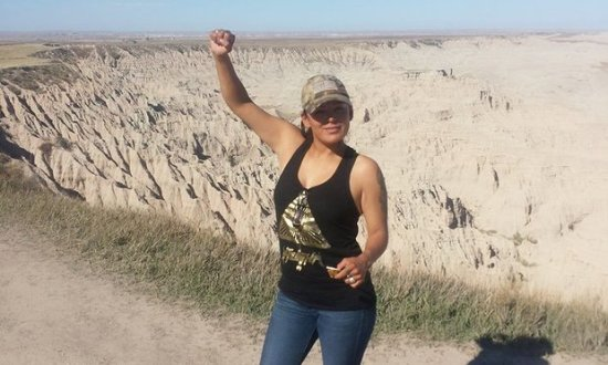 Red Fawn Fallis. 'It doesn't surprise me that they are targeting Red Fawn, because she's definitely an asset to our community,' said protester Eryn Wise. Photograph: Courtesy of Eryn Wise