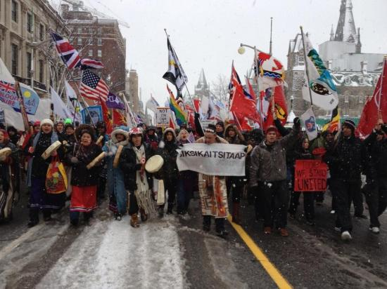 Idle No More march on Dec. 21, 2012 in Ottawa.