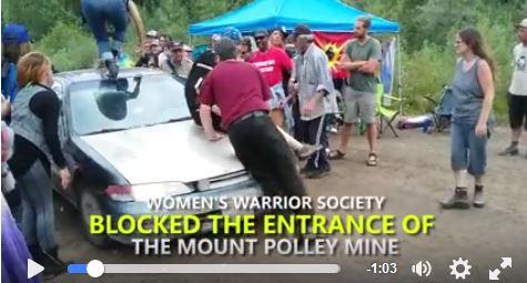 Mount Polley blockade car