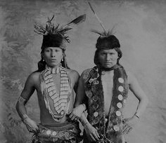 Black Elk (left) and Elk of the Ogala Lakota touring with Buffalo Bill's Wild West Show. (Credit: National Anthropological Archives, Smithsonian Institution)