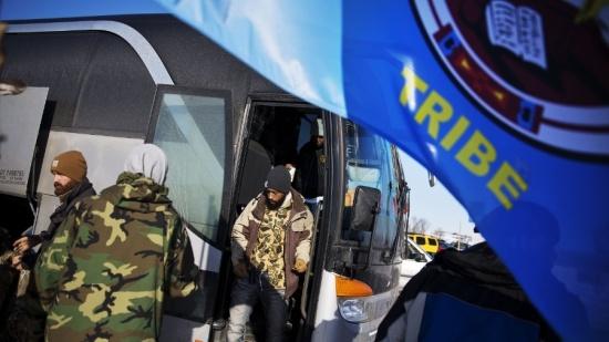 U.S. military veterans arrive at Standing Rock to help battle against the Dakota Access oil pipeline.