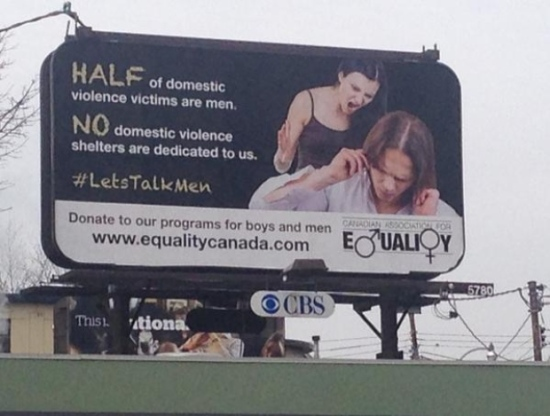 The Canadian Association for Equality put up this billboard ad in Toronto in 2015. (CBC)