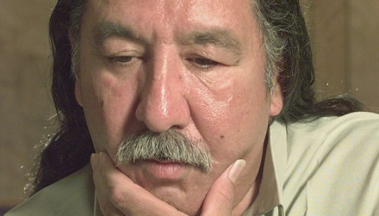 Leonard Peltier, shown here in a 1999 photo, was given two life sentences in a trial that has sparked controversy for decades. (Joe Ledford/The Associated Press)