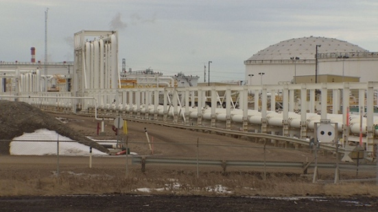 The Enbridge facility in Strathcona County, Alberta. (Martin Weaver/CBC)