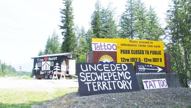 Indigenous pipeline protesters take over B.C. park, displace campers
