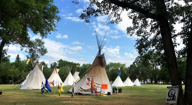 Man facing charges after fireworks discharged at Justice for Our Stolen Children camp
