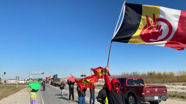 Manitoba protesters stand with Six Nations, fight promised anti-blockade law